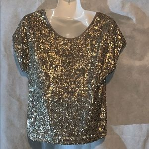 TART BLOUSE SEQUENCE SZXS COLOR GOLD MADE IN INDIA